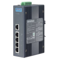 EKI-2525PA Advantech 4FE PoE+1FE Unmanaged PoE Ethernet Switch