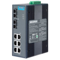 EKI-2728S Unmanaged Ethernet Switch mit 6 GE und 2 Single-Mode SC Ports von Advantech