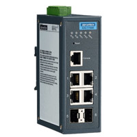 EKI-7706E-2F Ethernet Managed redundanter industrieller Switch mit 4 Fast Ethernet und 2 SFP Ports von Advantech