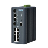 EKI-7710G-2CI Managed Ethernet Switch mit 8 Gigabit und 2 Gigabit Copper/SFP Ports von Advantech