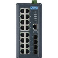 EKI-7720E-4FI industrieller Managed Switch mit 16 Fast Ethernet und 4 SFP Ports von Advantech Front