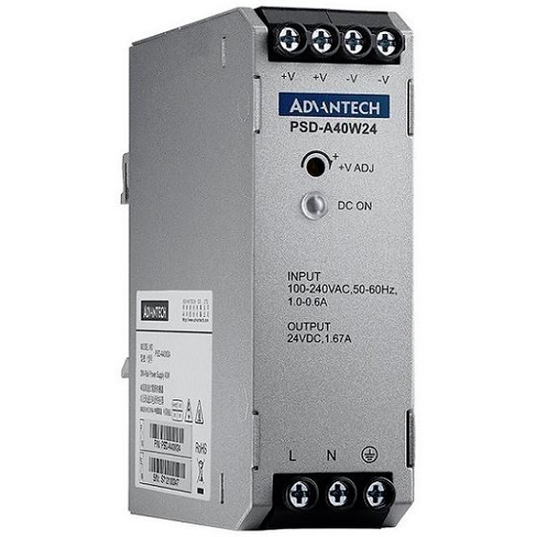 PSD-A40W24 DIN Rail Power Supply AC zu DC 100-240V 40W 24V von Advantech