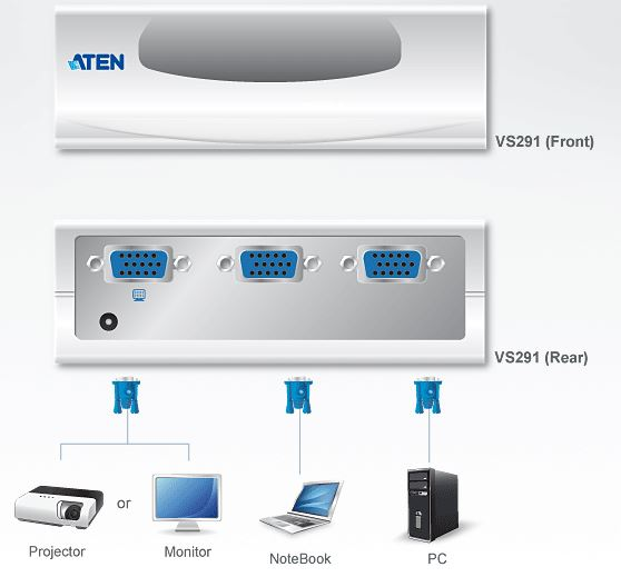 vs291-aten-vga-grafik-switch-2-ports-diagramm