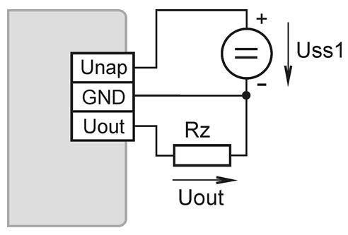 Verdrahtung des T5240 CO2 Sensor mit 0-10V Ausgangsspannung von Comet.