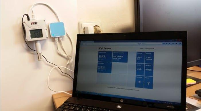 T5541 CO2 Sensor mit Ethernet Schnittstelle von Comet System Anwendung