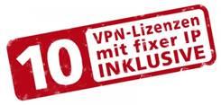10 VPN Lizenzen mit fixer IP INKLUSIVE