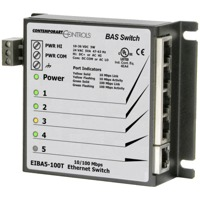 Der EIBA5-100T von Contemporary Controls ist ein Unmanaged Switch.
