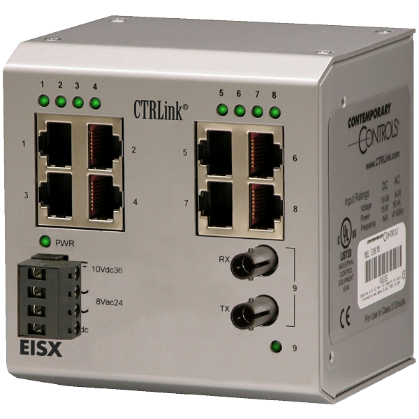 Der EISX9-100T-FT von Contemporary Controls ist ein Unmanaged Outdoor Switch.