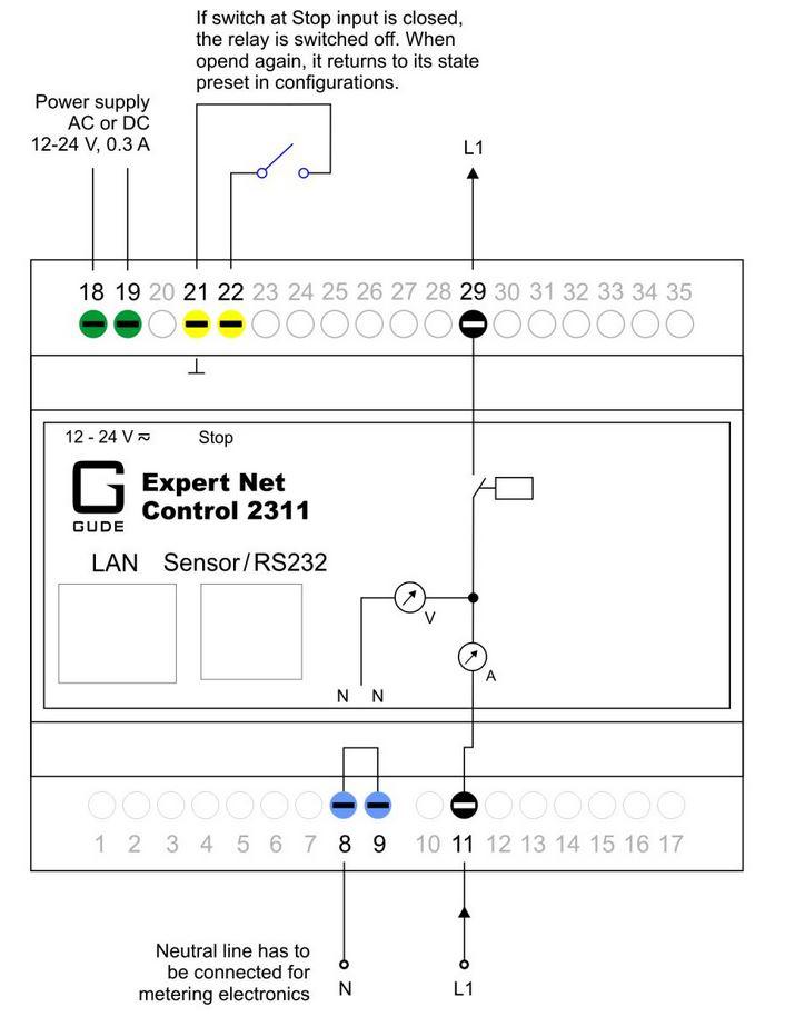 expert-net-control-2311-gude-fernwirksystem-1-relaisausgang-diagramm