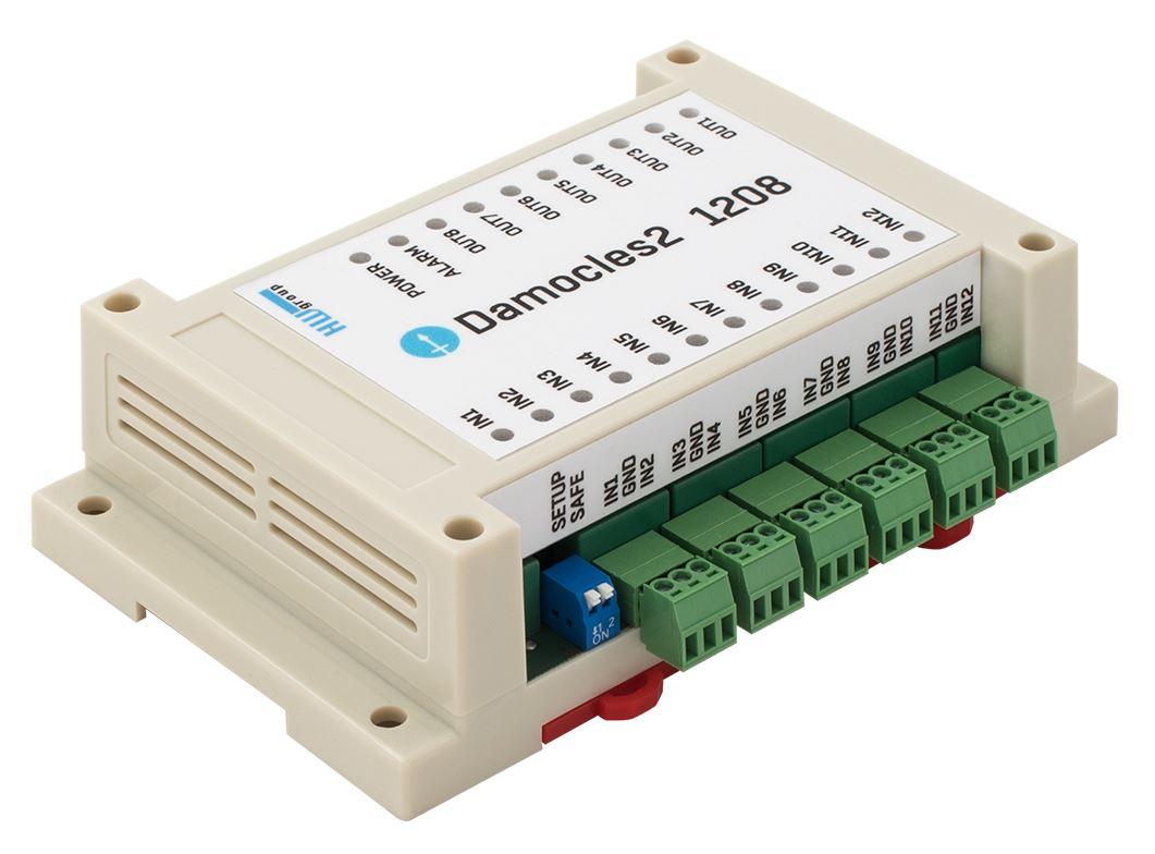 Damocles2 1208 Remote I/O Einheit mit 12 digitalen Eingängen und 8 digitalen Ausgängen