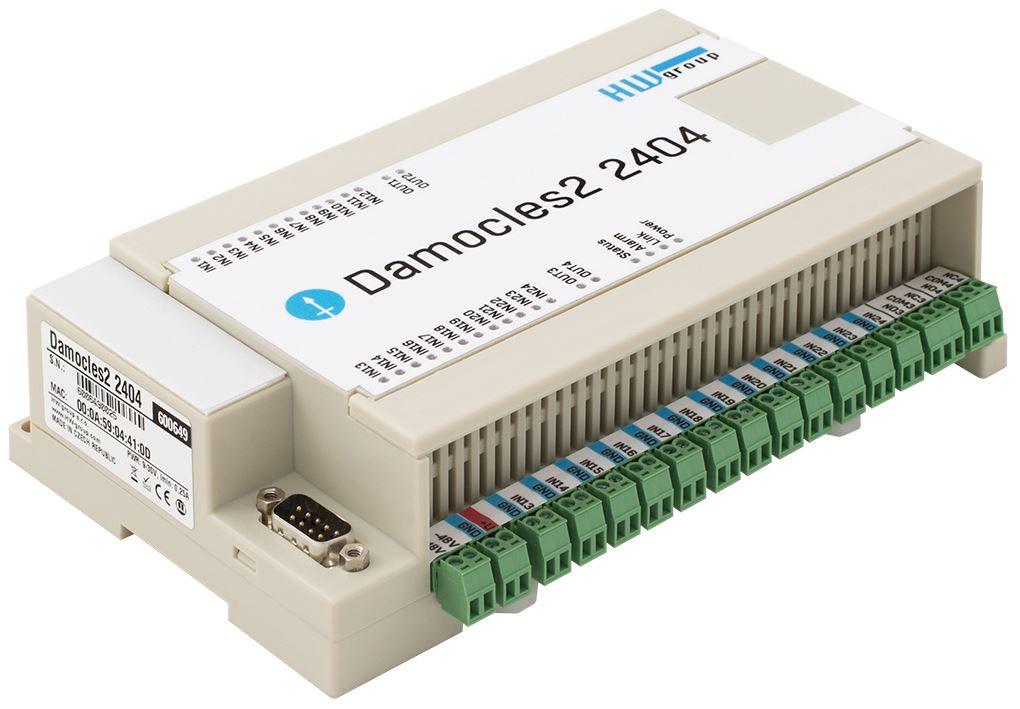 Damocles2 2404 Remote I/O Einheit mit 24 digitalen Eingängen und 4 digitalen Ausgängen