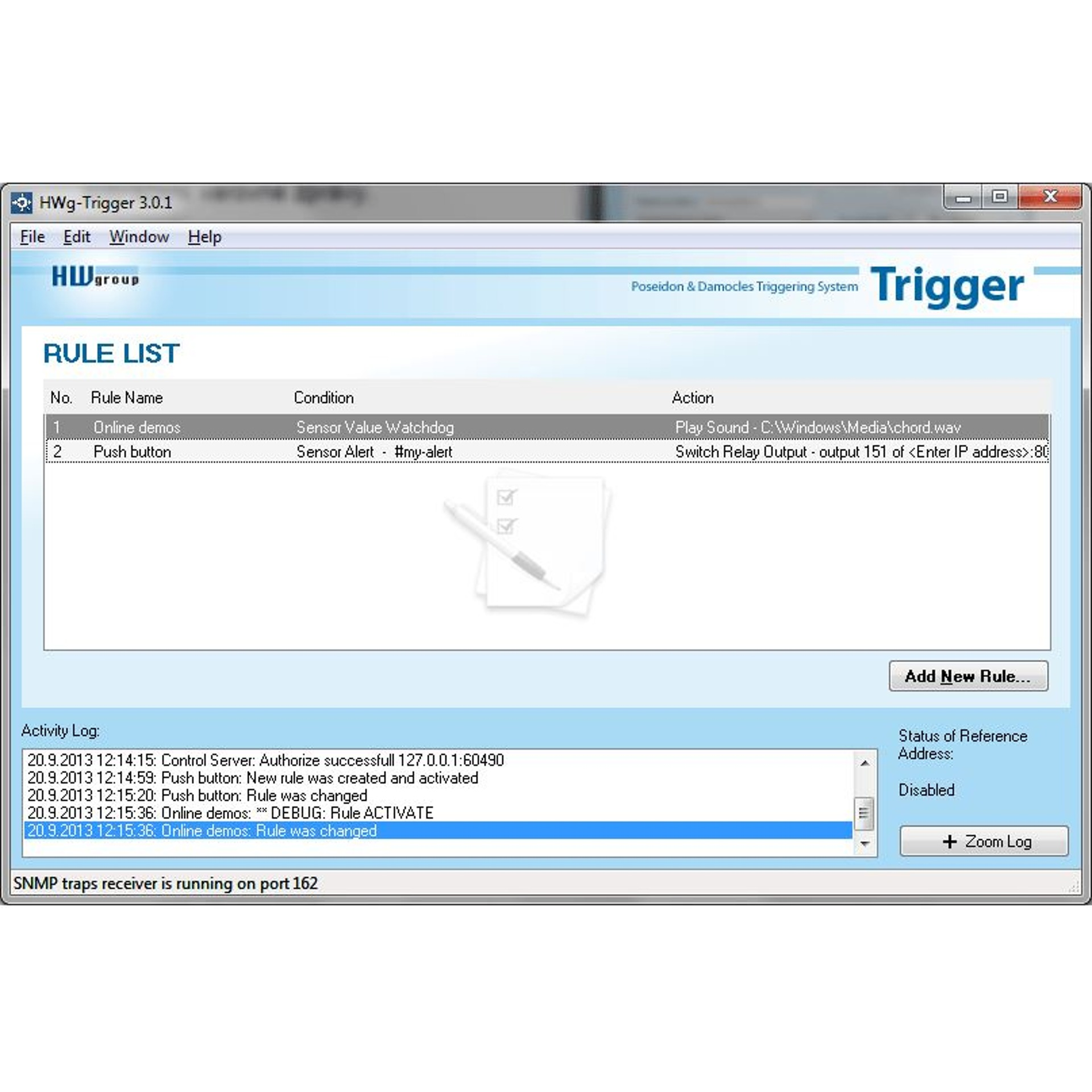 hwg trigger alarmierungssoftware hw group bellequip