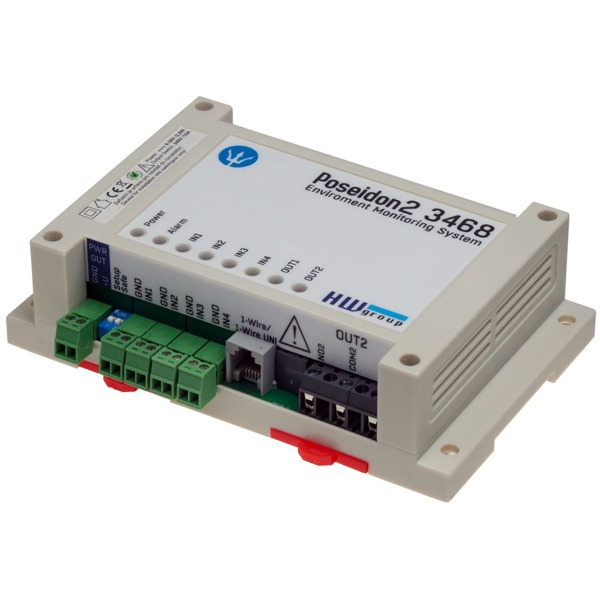 Poseidon2 3468 IP Monitoring und 110/230V Output Relay von HW group.