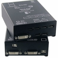 DVXi/ET Ihse DVI KVM Extender über CATx und Glasfaser DVI-D Video, USB, PS/2, USB 2.0, Audio, RS232