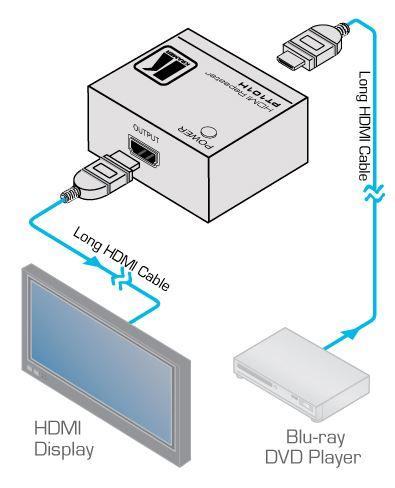 pt-101hxl-kramer-electronics-hdmi-signal-repeater-diagramm