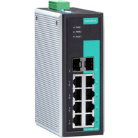 EDS-G308-2SFP Unmanaged Ethernet Switch mit 6x Gigabit Ethernet und 2x GbE RJ45/SFP Combo Ports von Moxa
