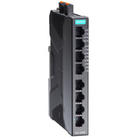 SDS-3008 8-Port Smart Managed Ethernet Switch von Moxa mit EtherNet/IP, PROFINET und Modbus/TCP.