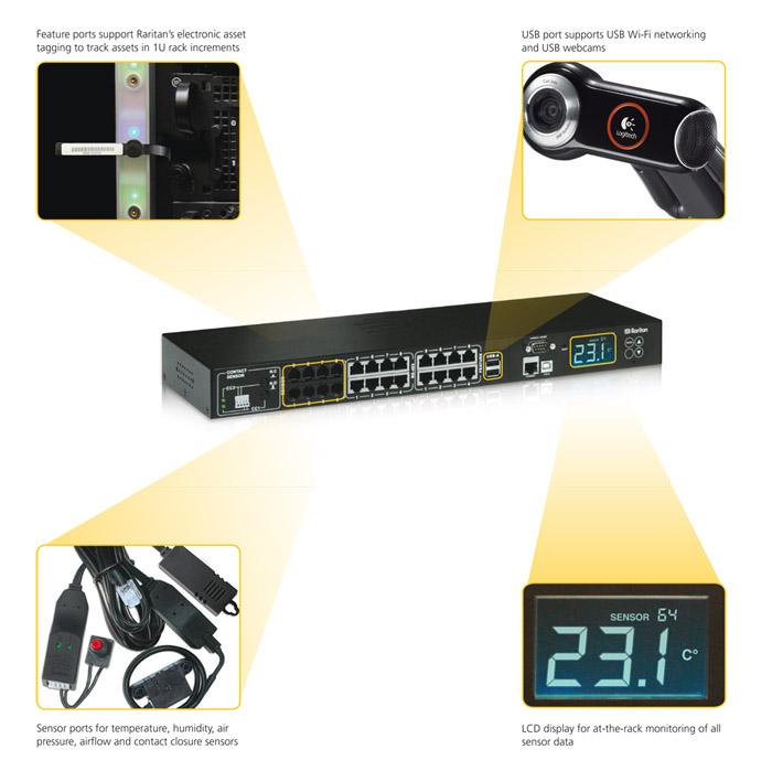 EMX2-888 - Intelligenter Rack-Regler - Intelligente Rack Überwachung / Serverschrank Überwachung für bis zu 128 Sensoren