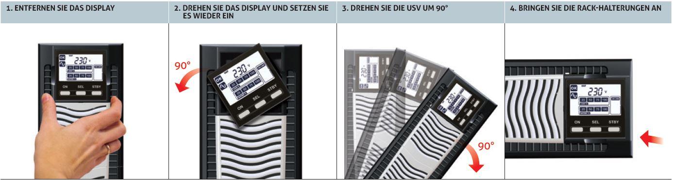Horizontale Anwendung der Sentinel Dual SDU Online USV Anlagen von Riello UPS.