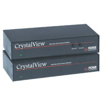 CrystalView CAT5 KVM Extender über CAT5 Leitungen von Rose Electronics.