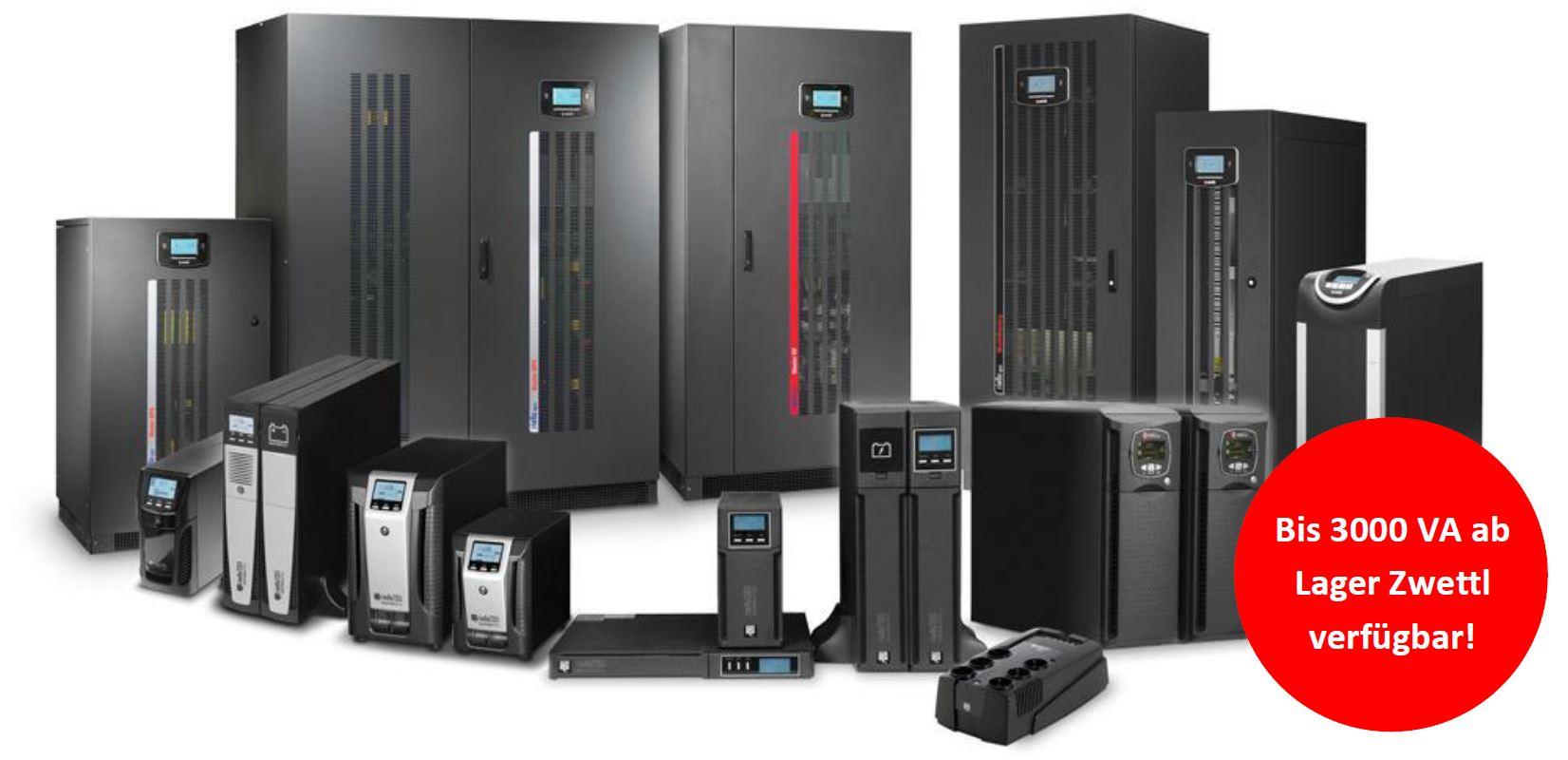 Riello UPS USV-Anlagen von 500 VA bis 200 kVA